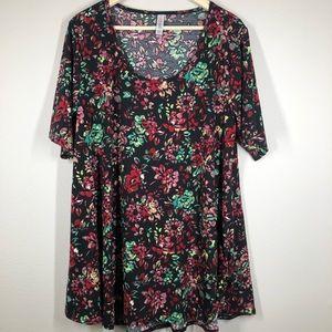 LuLaRoe Floral Perfect T Shirt Top 2XL